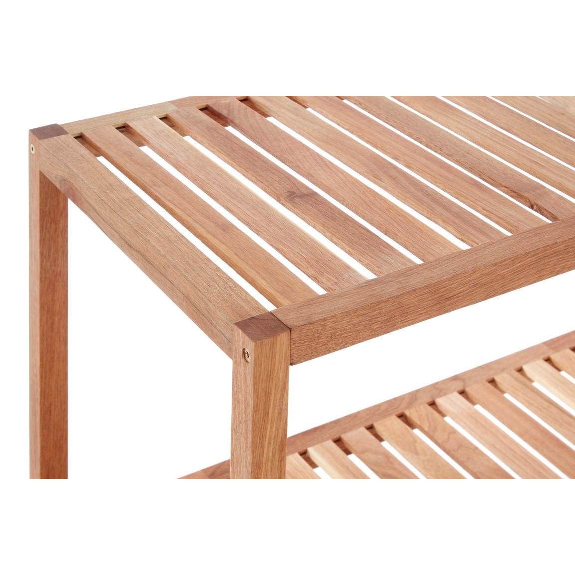 2 Tier Storage Shelf | Walnut Wood