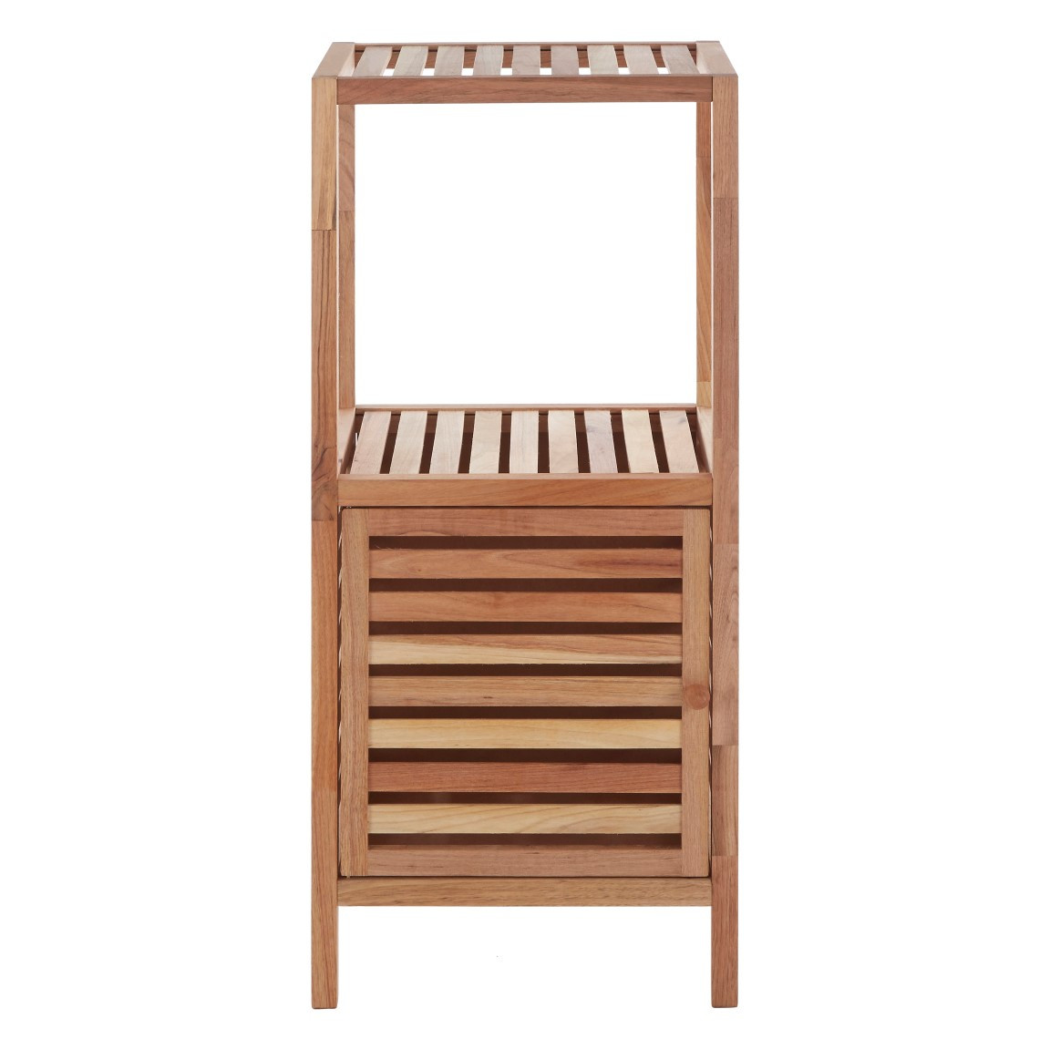 2 Tier Bathroom Shelf | Walnut Wood