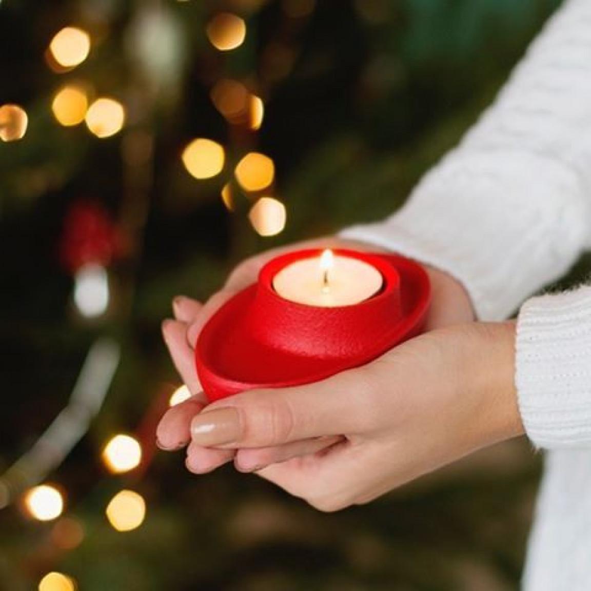 Kerzenhalter für 4 Kerzen | Grau