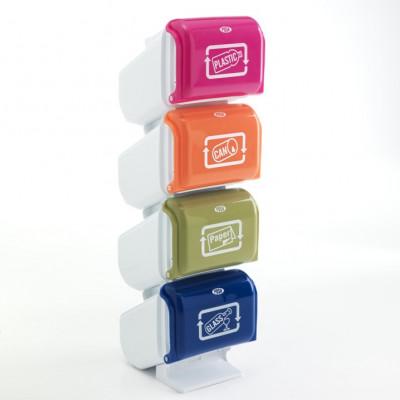 Abfalltrennmülleimer Pillar | Mehrfarben