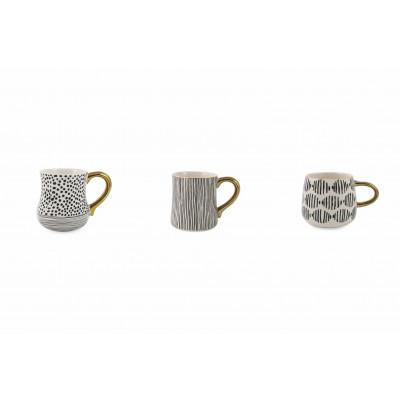Mug Masai Set of 3   Black