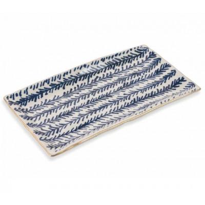 Rechteckige Platte Masai Klein   Blau