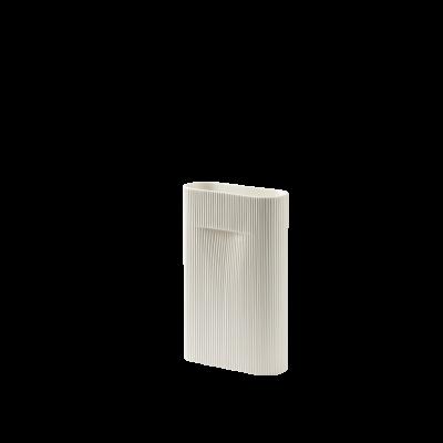 Vase Ridge H 35 cm l Cremeweiß