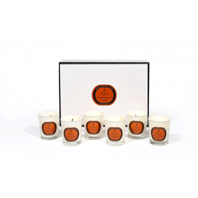 Duftkerzen-Set mit 6 Orangen, Zedern und Nelken