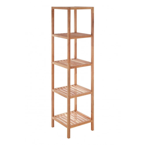 5 Tier Bathroom Shelf   Walnut Wood