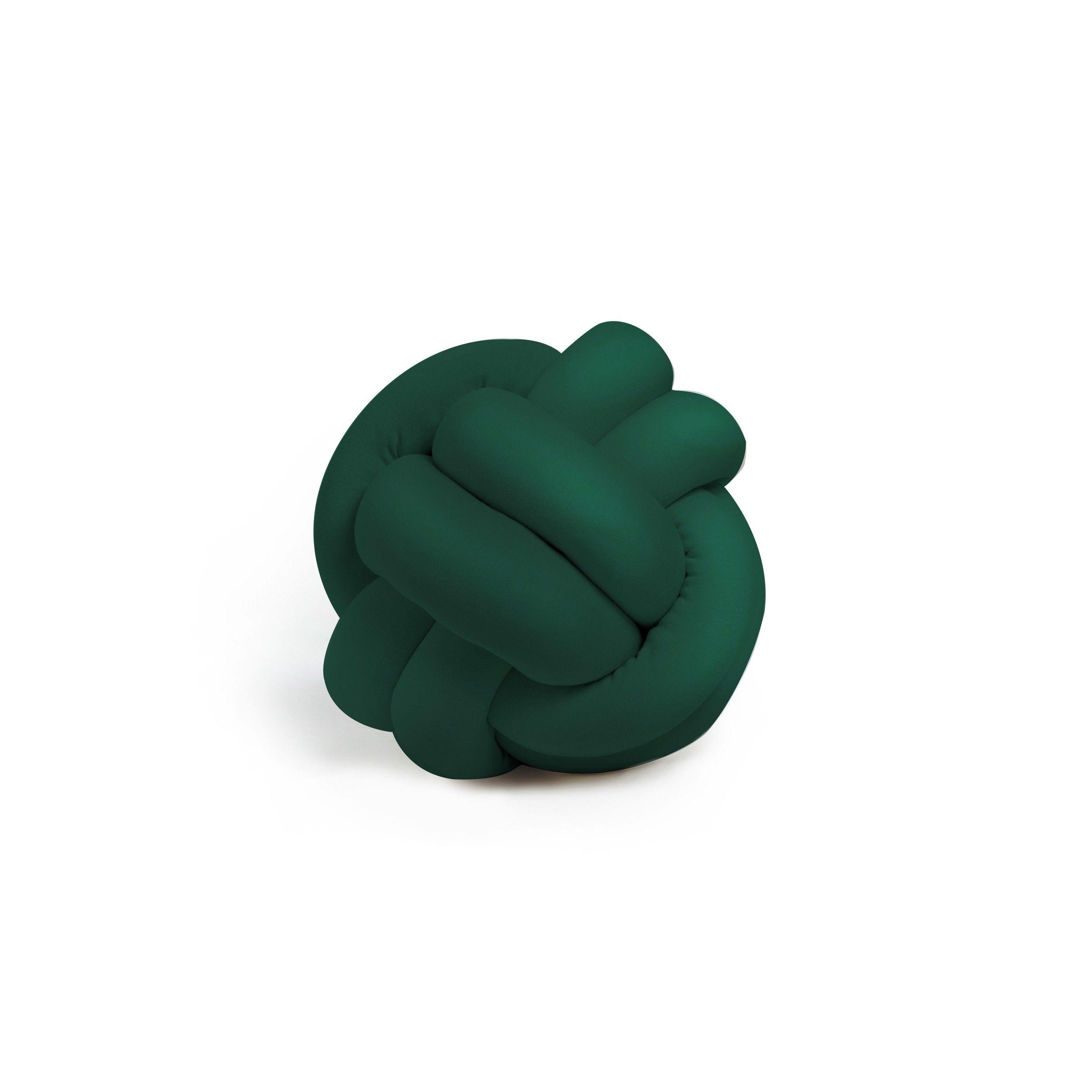 Dekorativer Kissenknoten Polyester   Grün
