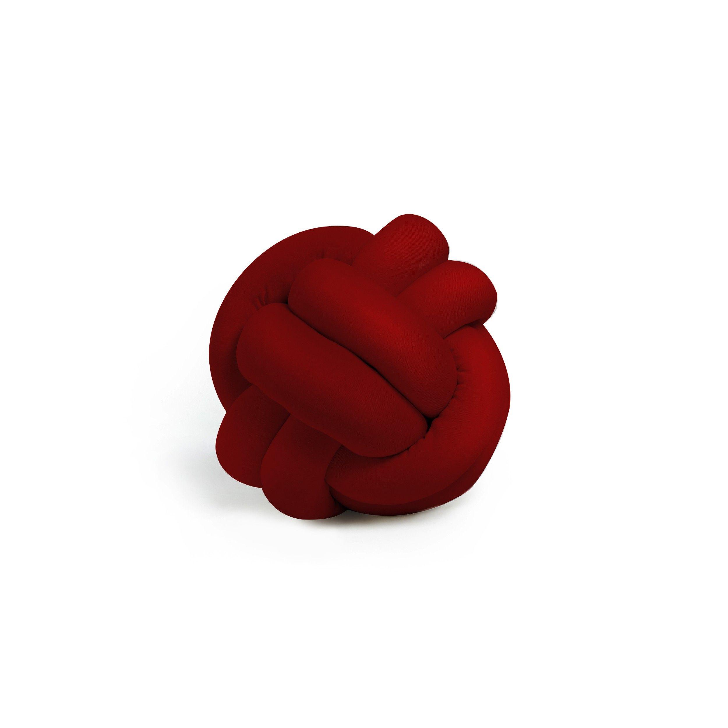 Dekorativer Kissenknoten Polyester   Rot