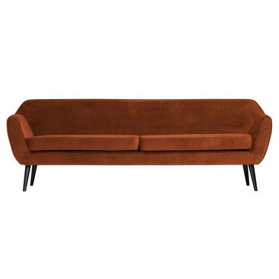 4-Sitzer-Sofa Rocco Samt | Rost