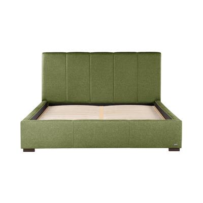 Gepolstertes Bett Onyx | Olivgrün