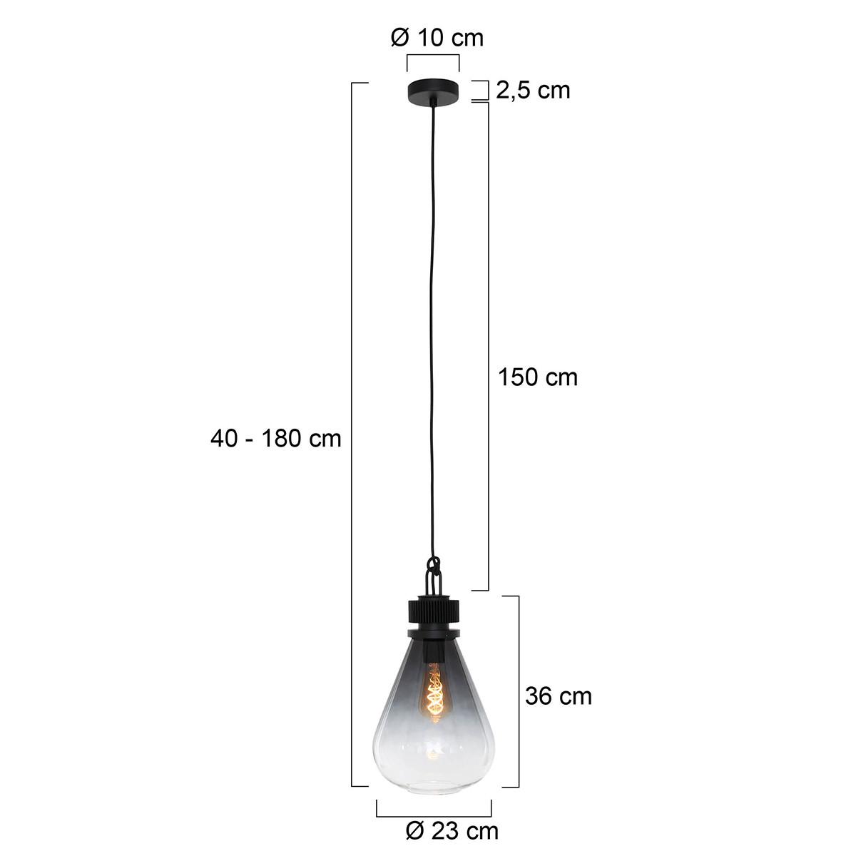 Pendelleuchte 1-L 25,5 cm   Schwarz