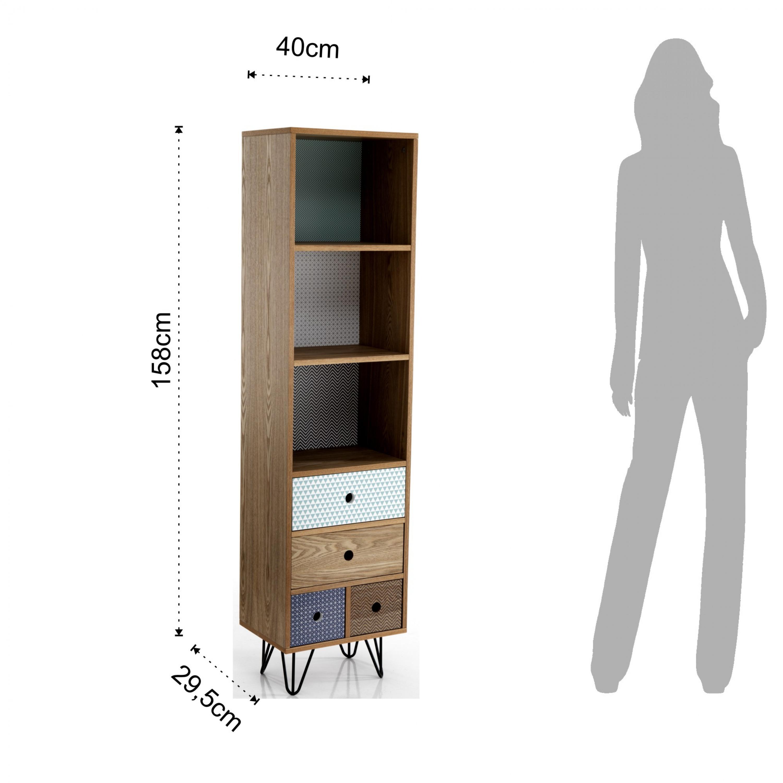 Bookshelf Hijo | 4 Drawers