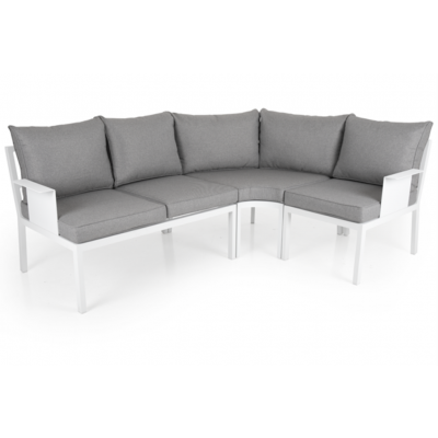 Outdoor-Lounge-Set Morzine 215 cm + 160 cm | Weißer Rahmen