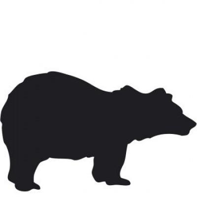Magnetic Chalkboard Sticker | Bear
