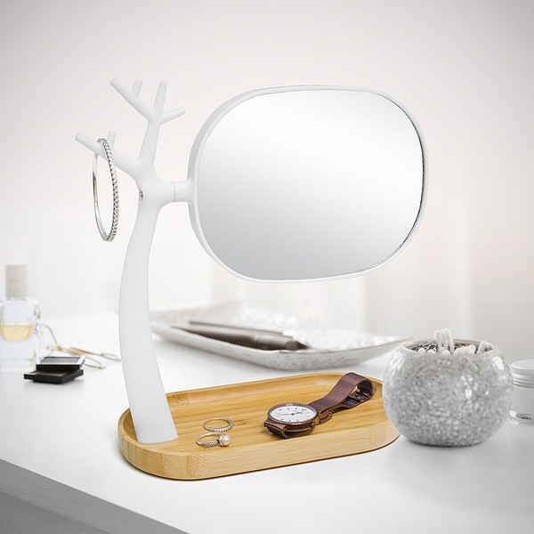 Schmuckhalter + Make-up-Spiegel