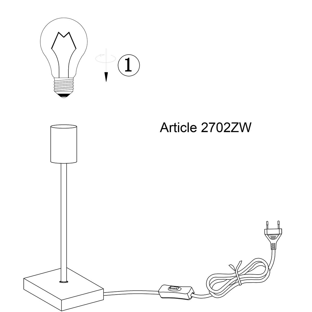 Tischlampe M 23 cm | Schwarz