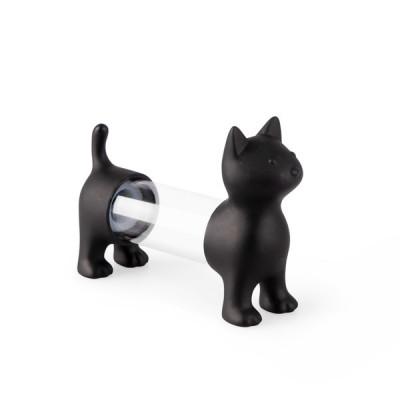 T.pick Holder & Salz- & Pfefferstreuer Cat | Schwarz
