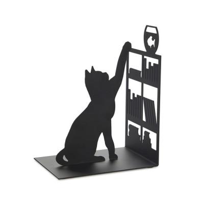 Buchstütze, Fischerkatze | Schwarz