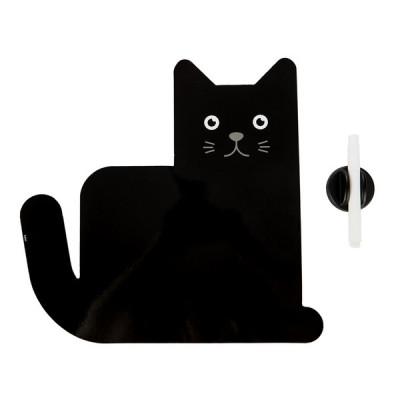 Magnetisches Kühlschrankbrett Miau | Schwarz