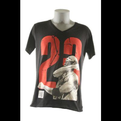 Jordan T-Shirt Men V-neck- Black