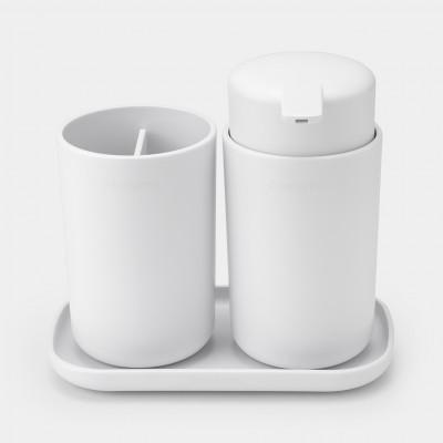 Badezimmerzubehör-Set ReNew, 3-teiliges | Weiß