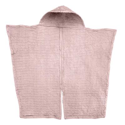 Big Waffle Baby Towel   Pale Rose