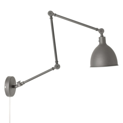 Wandlampe Bazar   Grau