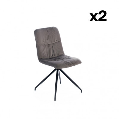 2-er Set Esszimmerstühle Alba | Dunkelgrau