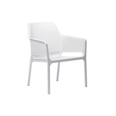 Stapelbarer Sessel Net Relax | Weiß