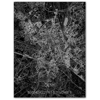 Metal Wall Decoration | City Map | Gent-100 x 80 cm
