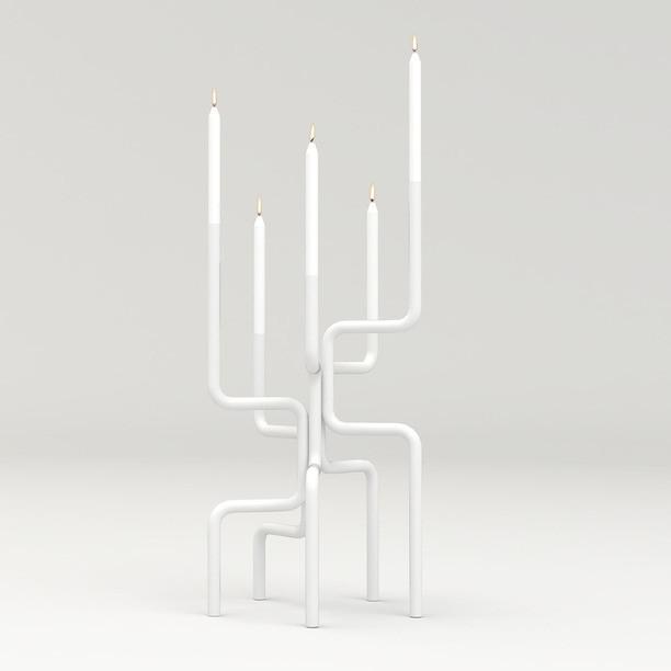 Kerzenhalter Walk of Flame | Weiß
