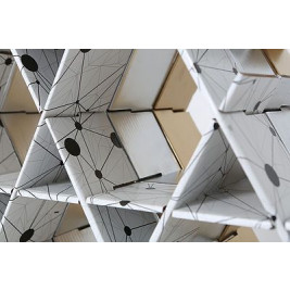 Cardboard Shelf | Black & white print