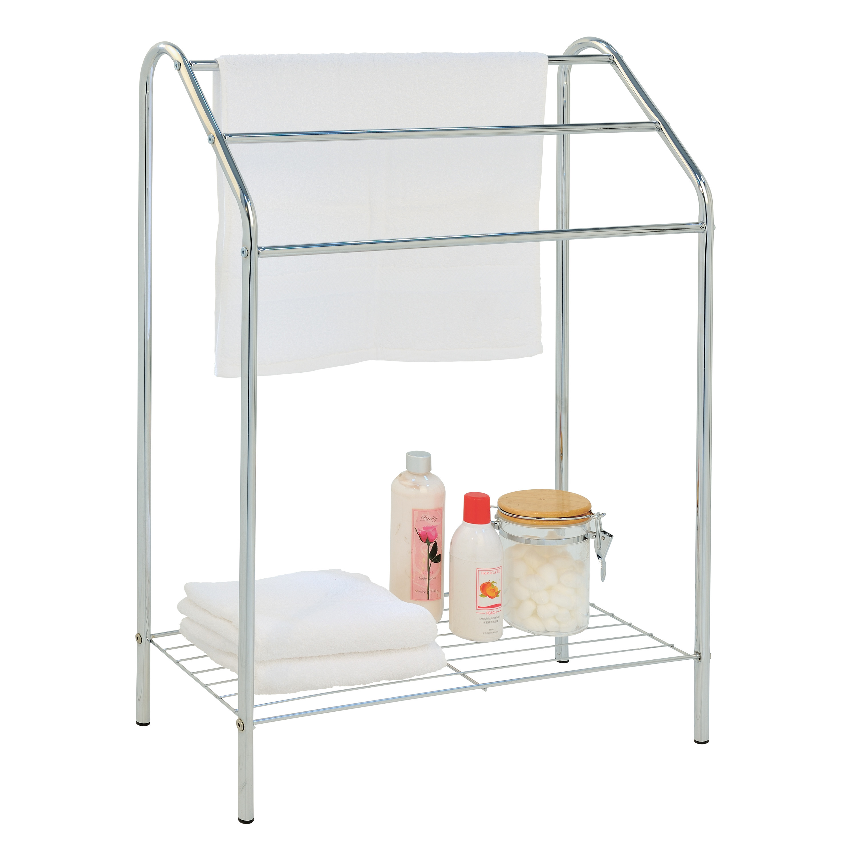 Towel Holder with Shelf Air | White