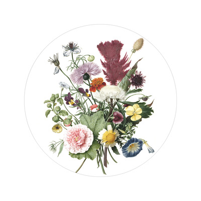 Wallpaper Circle Small Wild Flowers