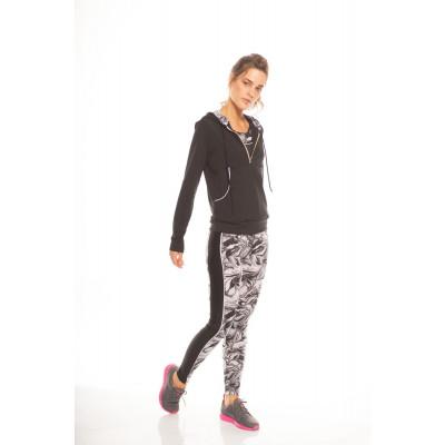 3 Pieces Sportwear (Jacket + Top + Legging)   Black