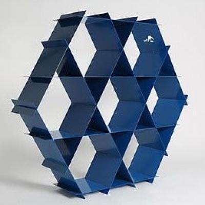 Aluminium-Regal | Blaubeere Blau