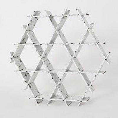 Kartonregal | Schwarz-Weiß-Druck