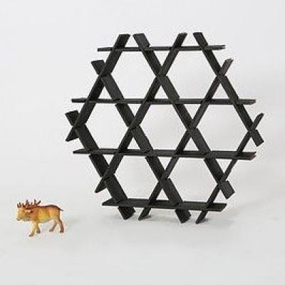 Kartonregal | Schwarz matt