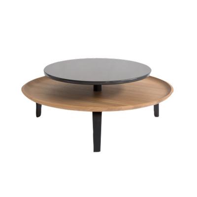 Coffee Table | Oak Wood/Black
