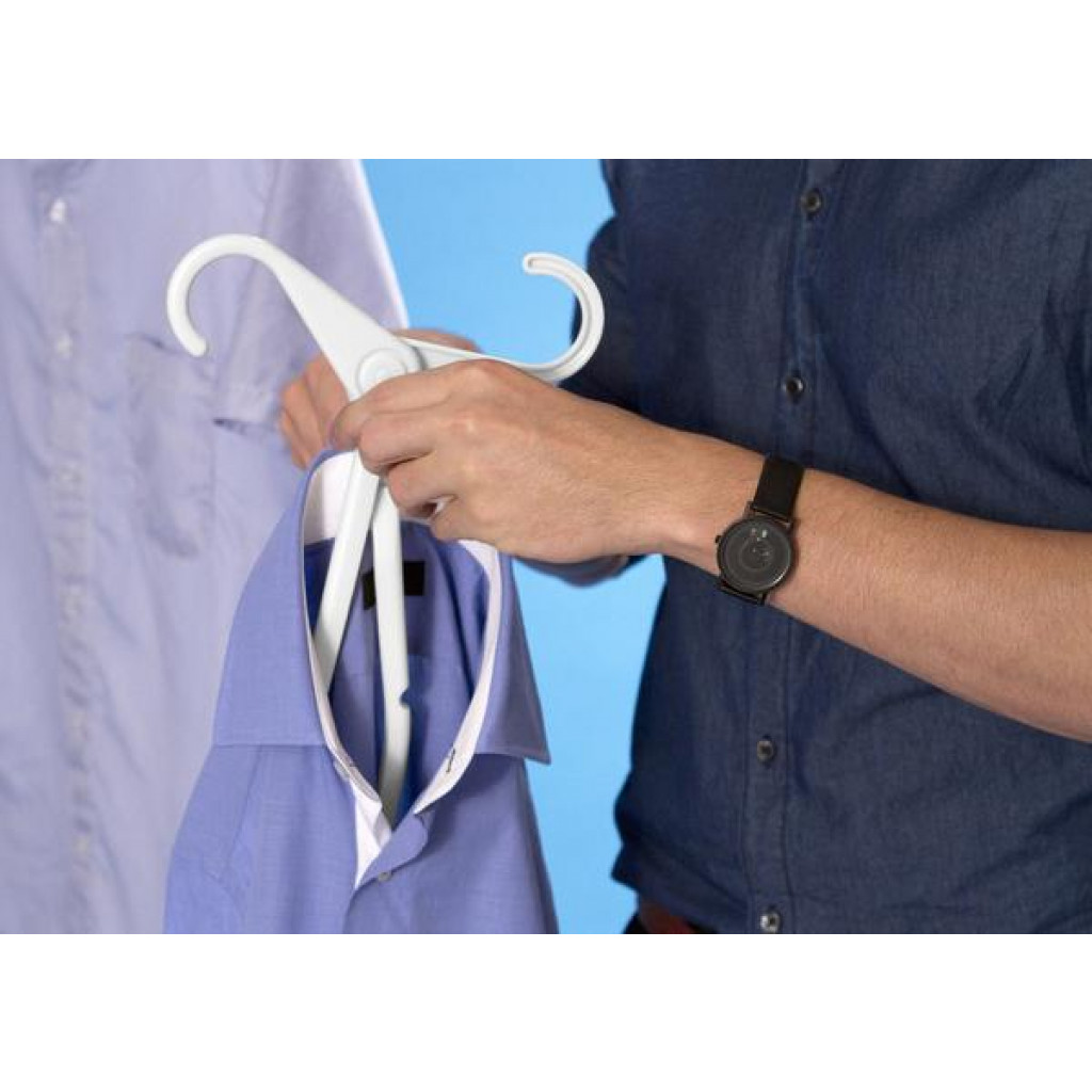 Collapsible Hangers Solo Set of 4   White
