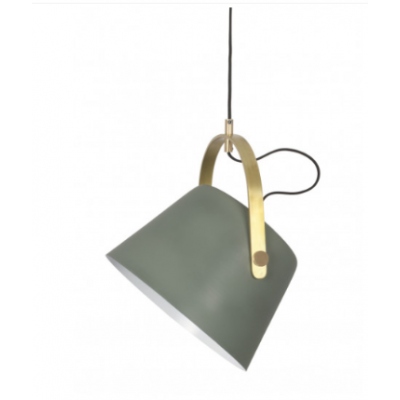 Jane Metal Pendant Lamp   Matte Green