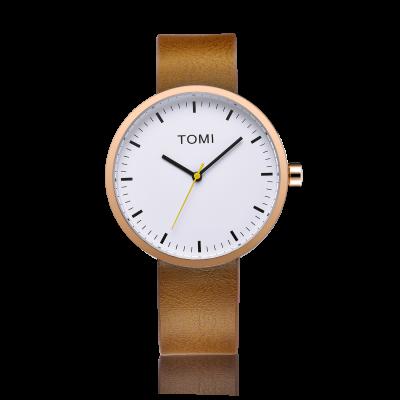 Tomi Watch | Cognac - White - Brass