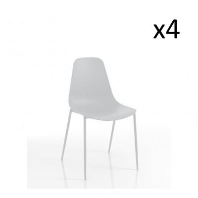 4er-Set   Stuhl Oslo   Weiß