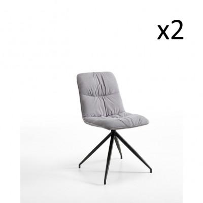 Stuhl Fabric 2er-Set | Grau
