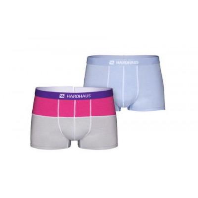 Boxershorts Set/2 | Magenta/Grau & Staple Hellblau