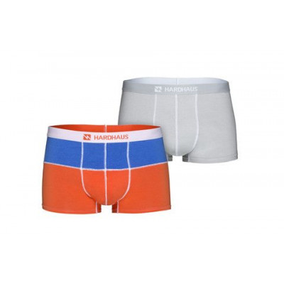 Boxershorts Set/2 | Königsblau/Flamme & Heftklammer-Grau