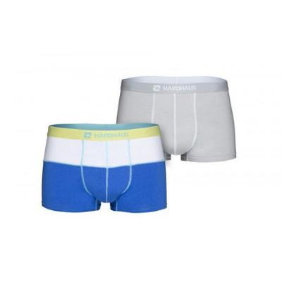Boxershorts Set/2 | Weiß/Royal Blau & Staple Grau