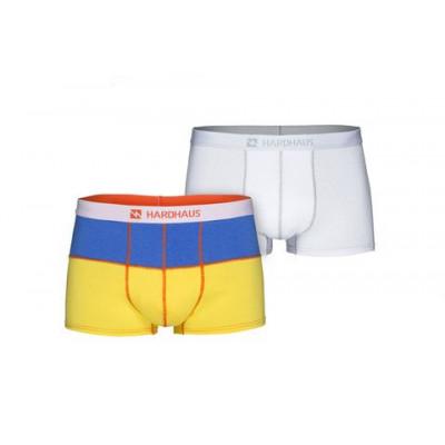 Boxershorts Set/2 | Königsblau/Gold & Heftklammer Weiß