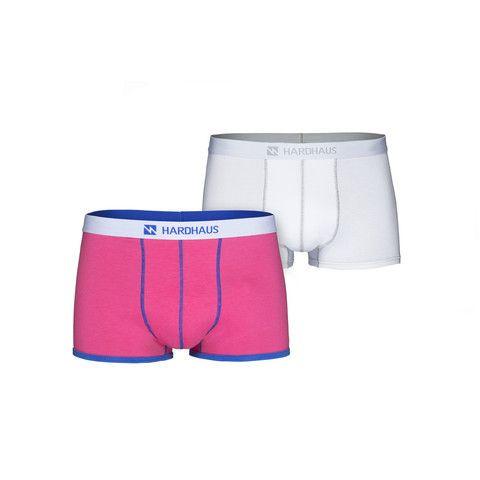 Boxershorts Set/2 | Magenta & Heftklammer Weiß