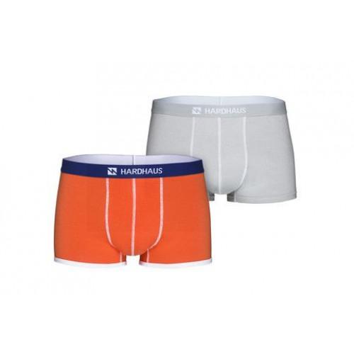 Boxershorts Set/2   Flame & Staple Grau