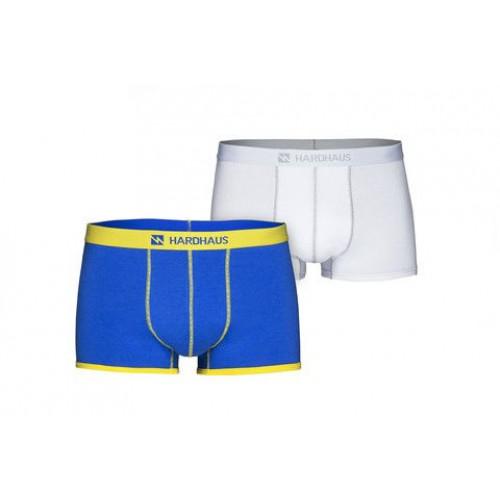 Boxershorts Set/2 | Königsblau & Heftklammer Weiß